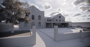 An architects render of the proposed Hollinshead Center